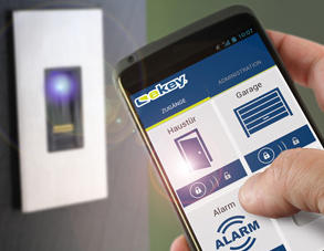 ekey Fingerscanner mit Android Smart Phone konfigurierbar